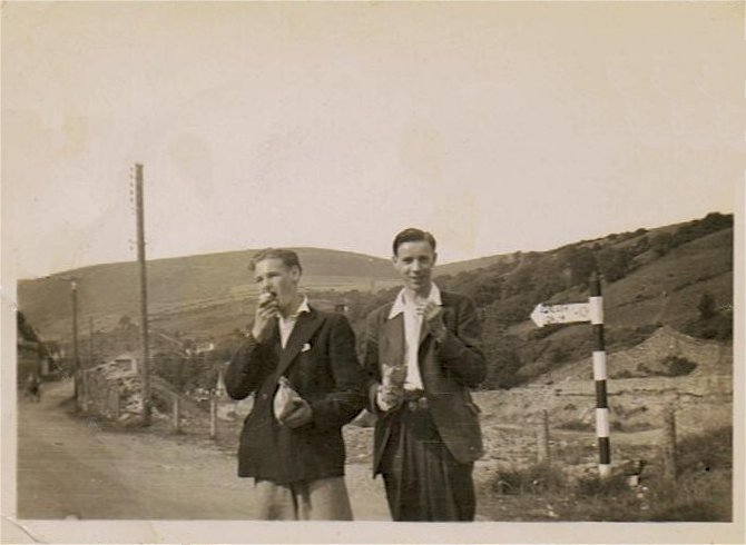 At Wardle - we think the lad at left is Dave's Dad